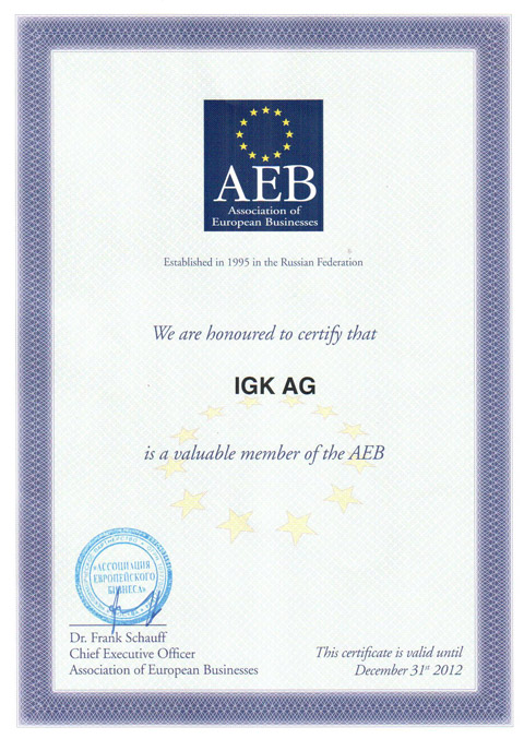 IGK AG is a valuable member of the AEB