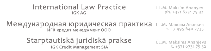 IGK International Law Practice